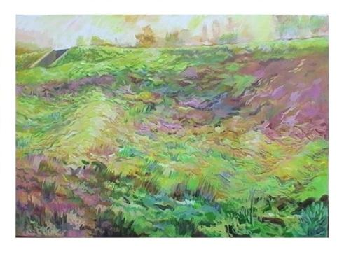 20090205 Uitzicht op sluisje bij Beusichem 70 x100 cm.
