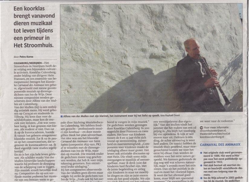Interview in de Gelderlander 4/10/2013