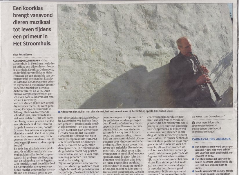 Interview in de Gelderlander 4/10/2013