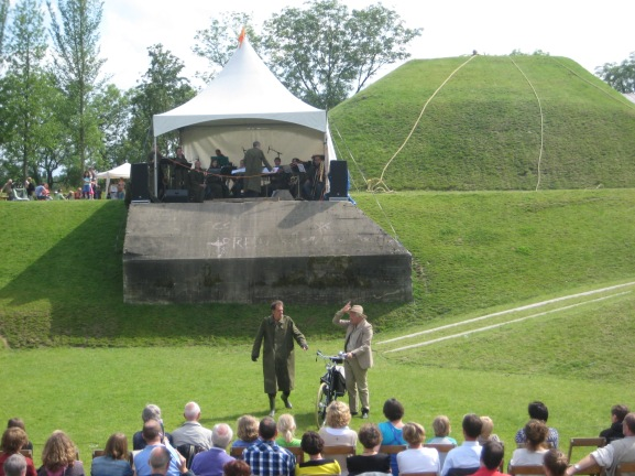 "Still during the musical play ""The secret of the Waterlinie"" june 2012, Het Spoel, Culemborg"
